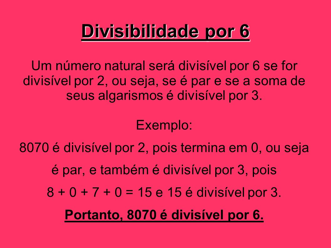 Divisibilidade por 6