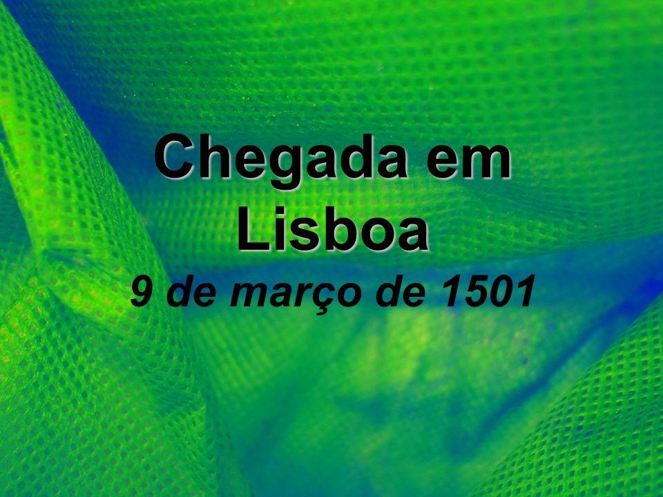 Chegada em Lisboa 9 de março de 1501