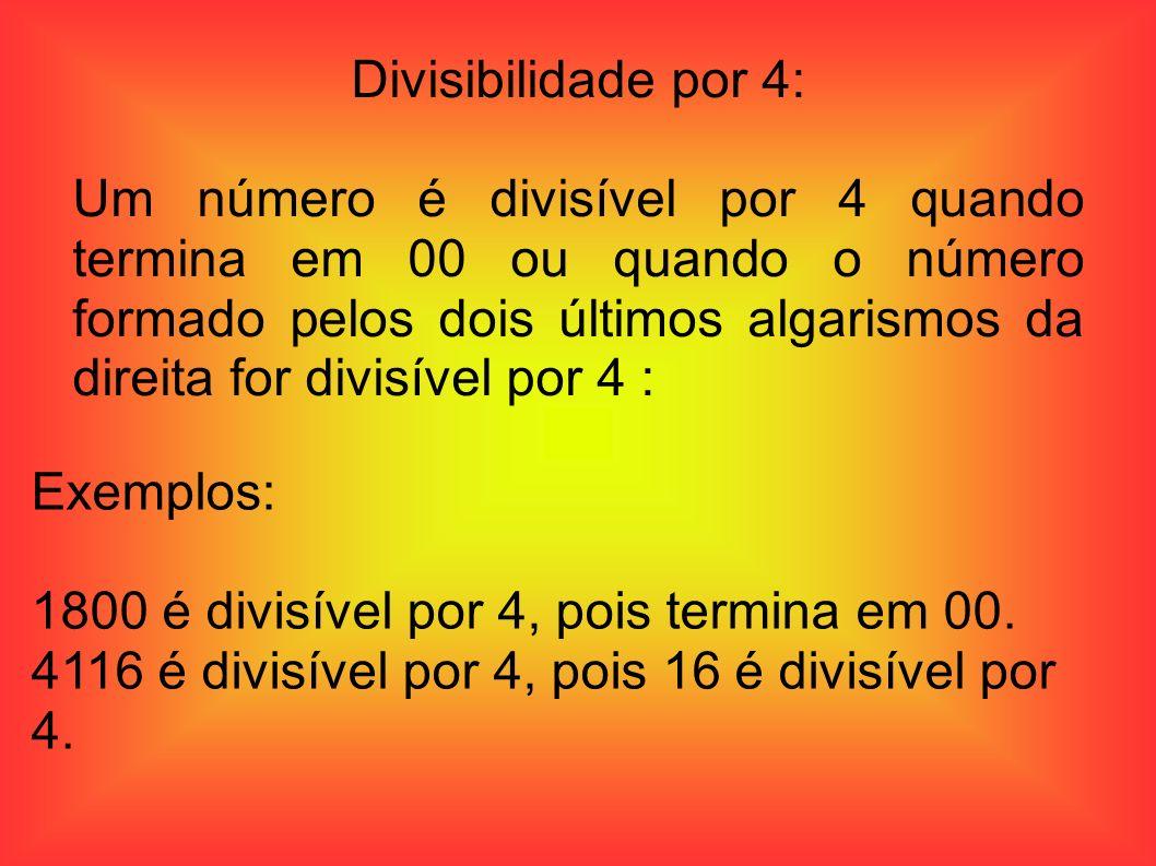 Divisibilidade por 4: