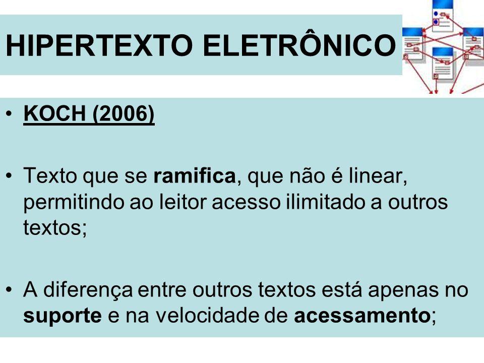 HIPERTEXTO ELETRÔNICO
