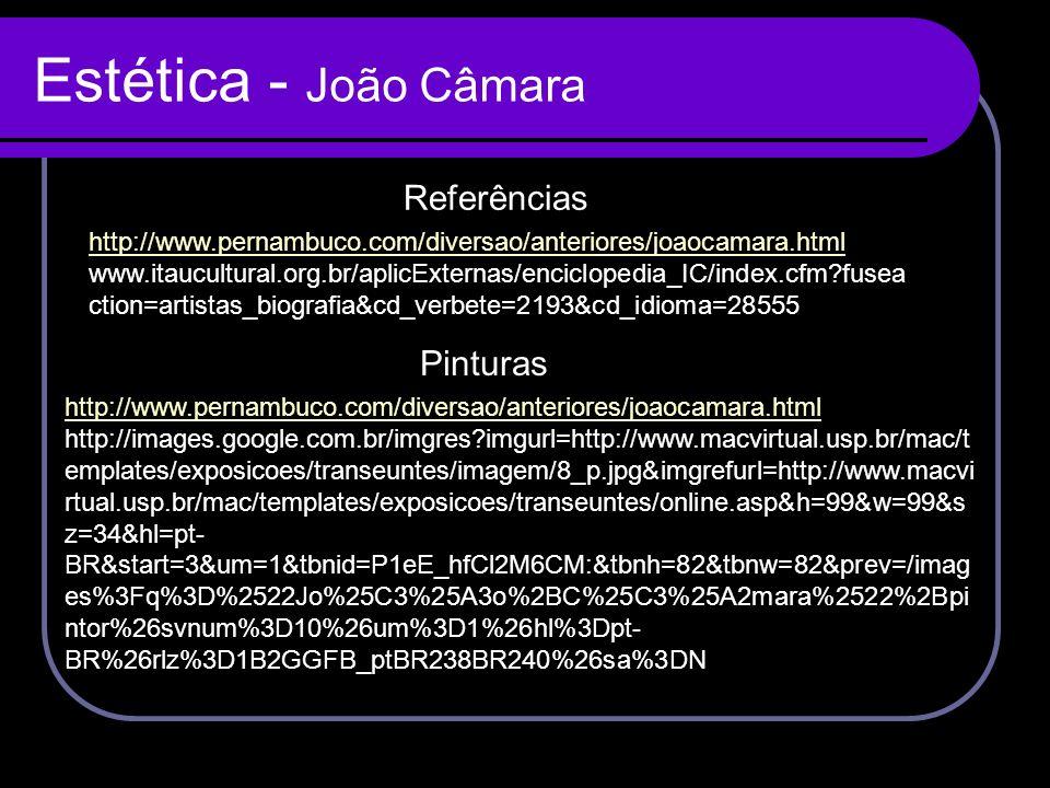 Estética - João Câmara Referências Pinturas