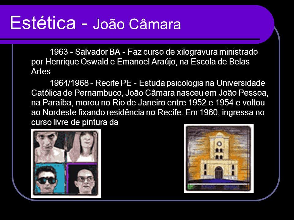 Estética - João Câmara 1963 - Salvador BA - Faz curso de xilogravura ministrado por Henrique Oswald e Emanoel Araújo, na Escola de Belas Artes.
