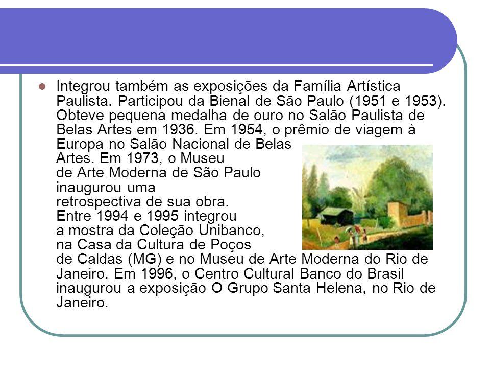Integrou também as exposições da Família Artística Paulista