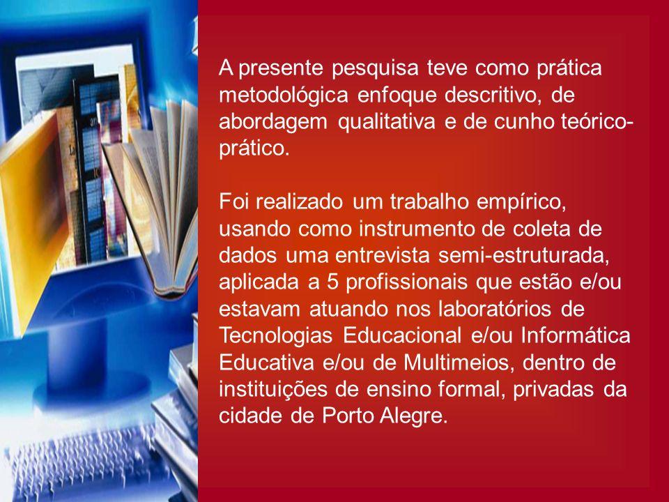 A presente pesquisa teve como prática metodológica enfoque descritivo, de abordagem qualitativa e de cunho teórico-prático.