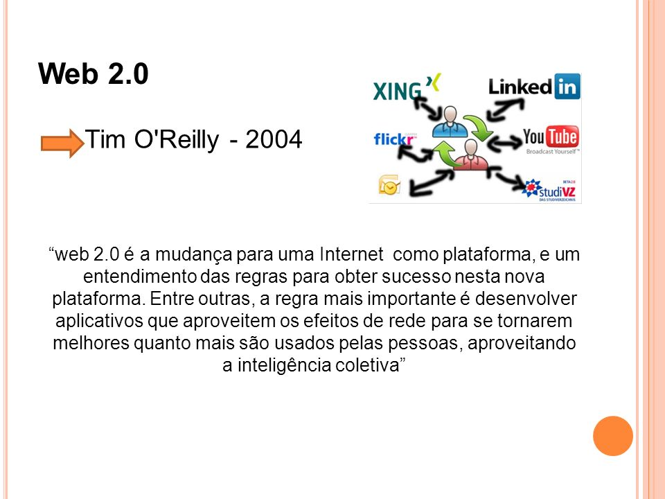 Web 2.0 Tim O Reilly - 2004.