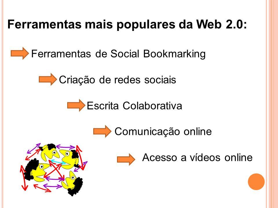 Ferramentas mais populares da Web 2.0: