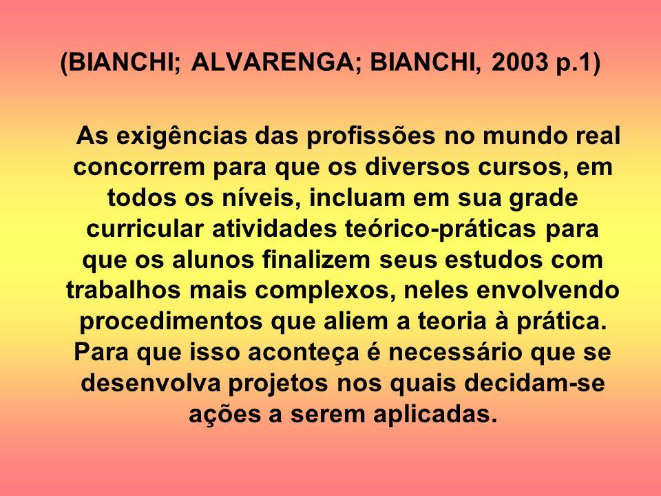 (BIANCHI; ALVARENGA; BIANCHI, 2003 p.1)