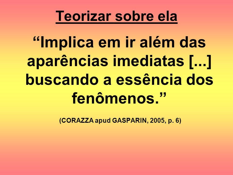 (CORAZZA apud GASPARIN, 2005, p. 6)