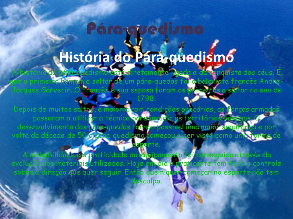 História do Pára-quedismo
