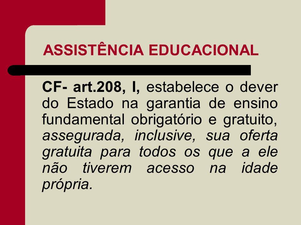 ASSISTÊNCIA EDUCACIONAL