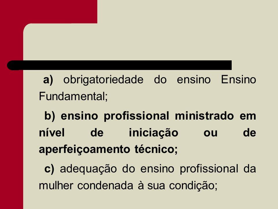 a) obrigatoriedade do ensino Ensino Fundamental;