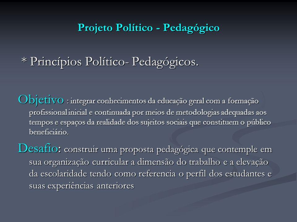 Projeto Político - Pedagógico