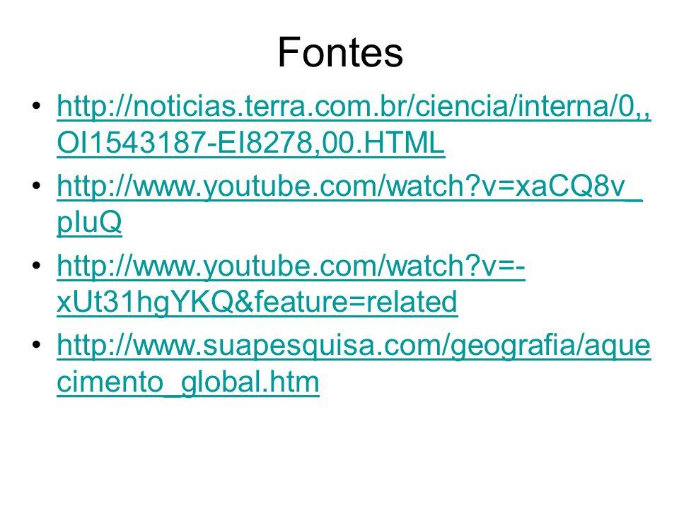 Fontes http://noticias.terra.com.br/ciencia/interna/0,,OI1543187-EI8278,00.HTML. http://www.youtube.com/watch v=xaCQ8v_pIuQ.