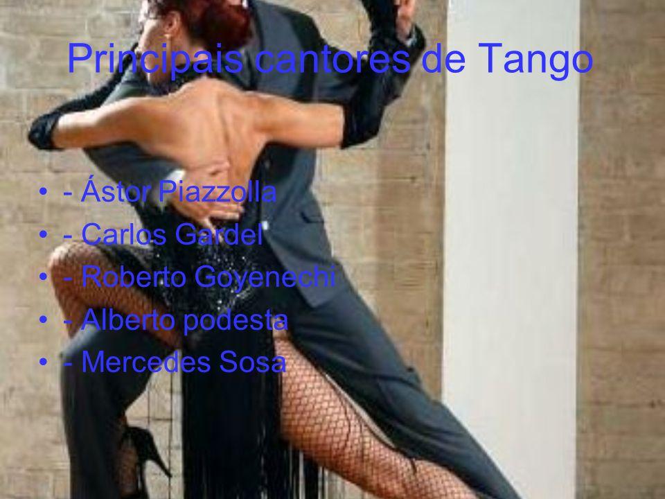 Principais cantores de Tango