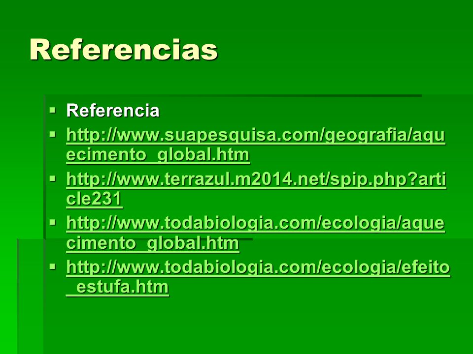 Referencias Referencia