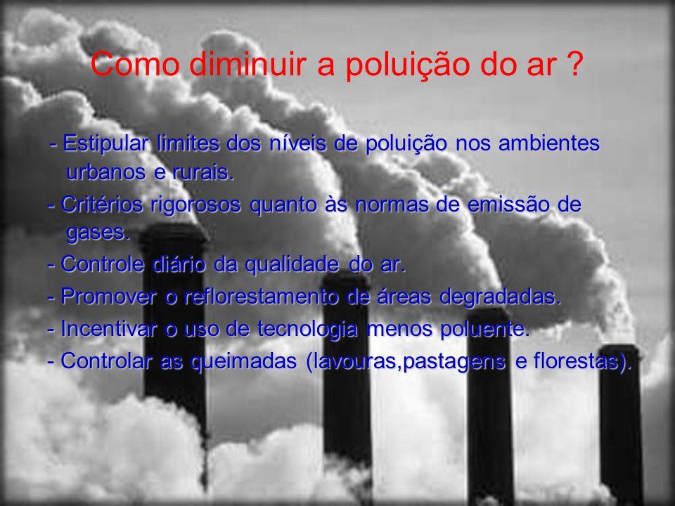 Como diminuir a poluição do ar