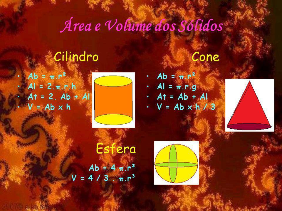 Área e Volume dos Sólidos
