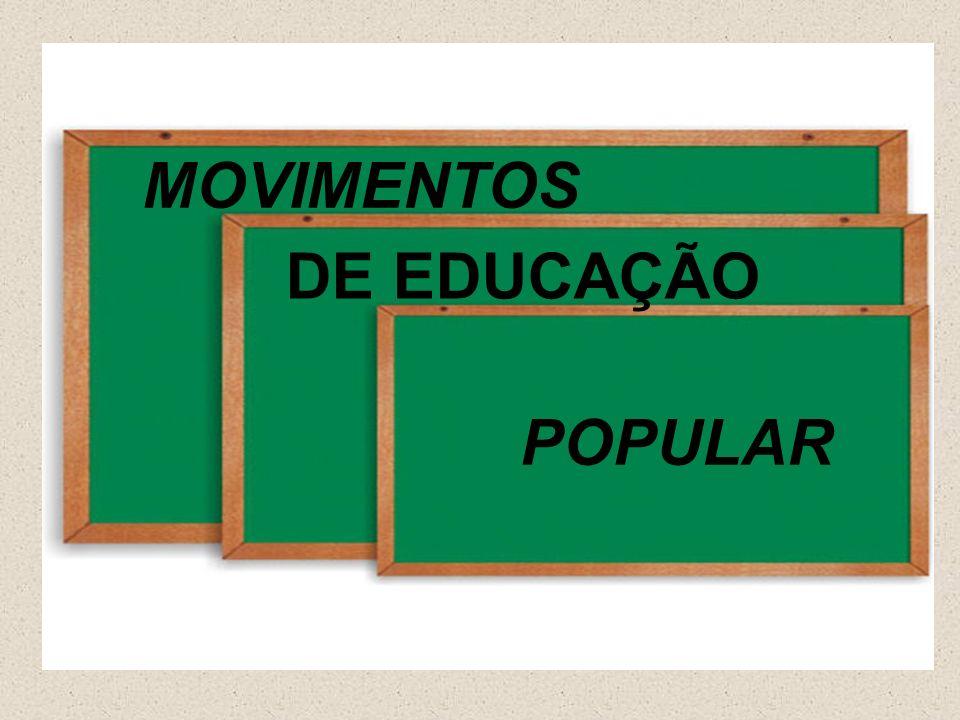 MOVIMENTO DE EDUCAÇÃO POPULAR