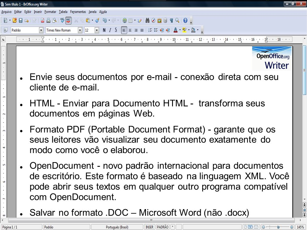 Envie seus documentos por e-mail - conexão direta com seu cliente de e-mail.