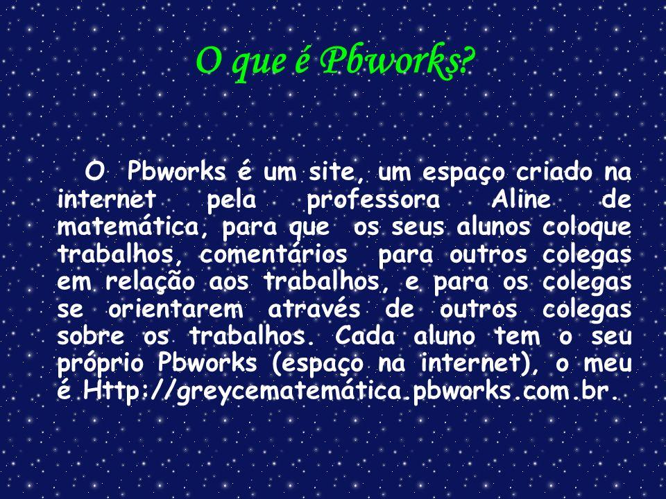 O que é Pbworks