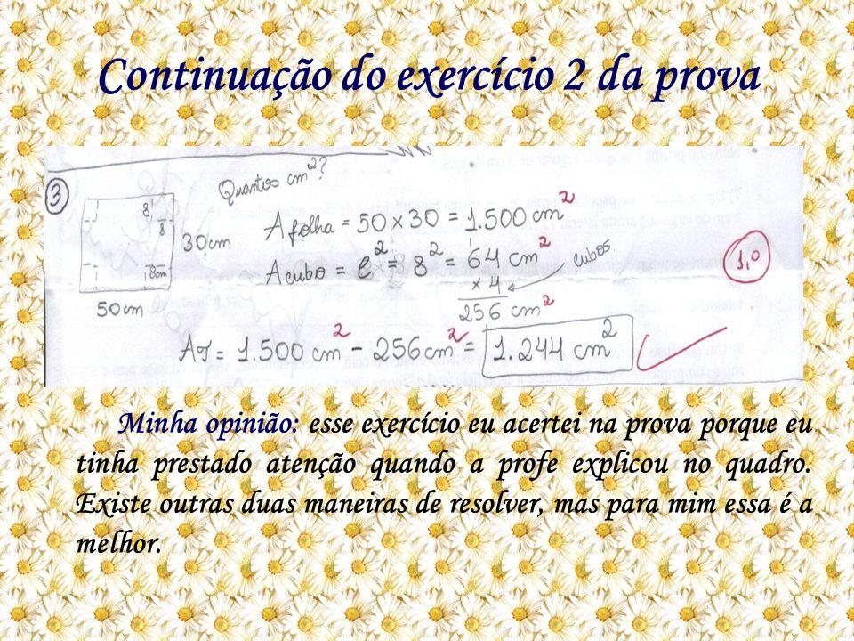 Continuação do exercício 2 da prova