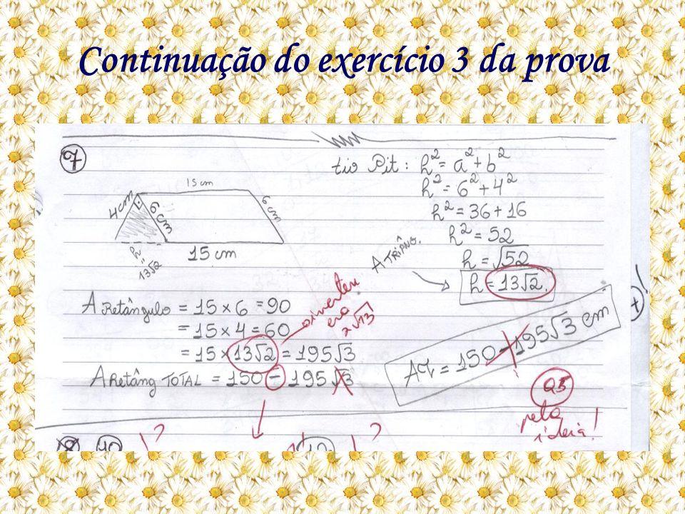 Continuação do exercício 3 da prova