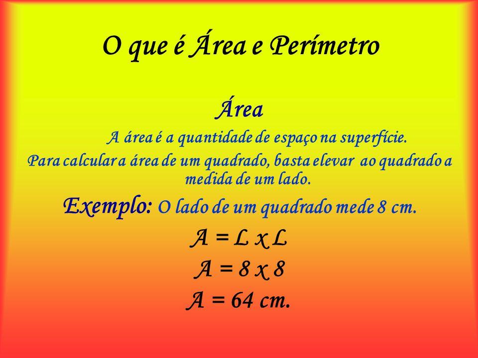 O que é Área e Perímetro Área