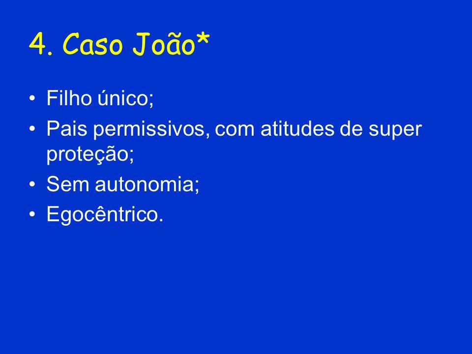4. Caso João* Filho único;