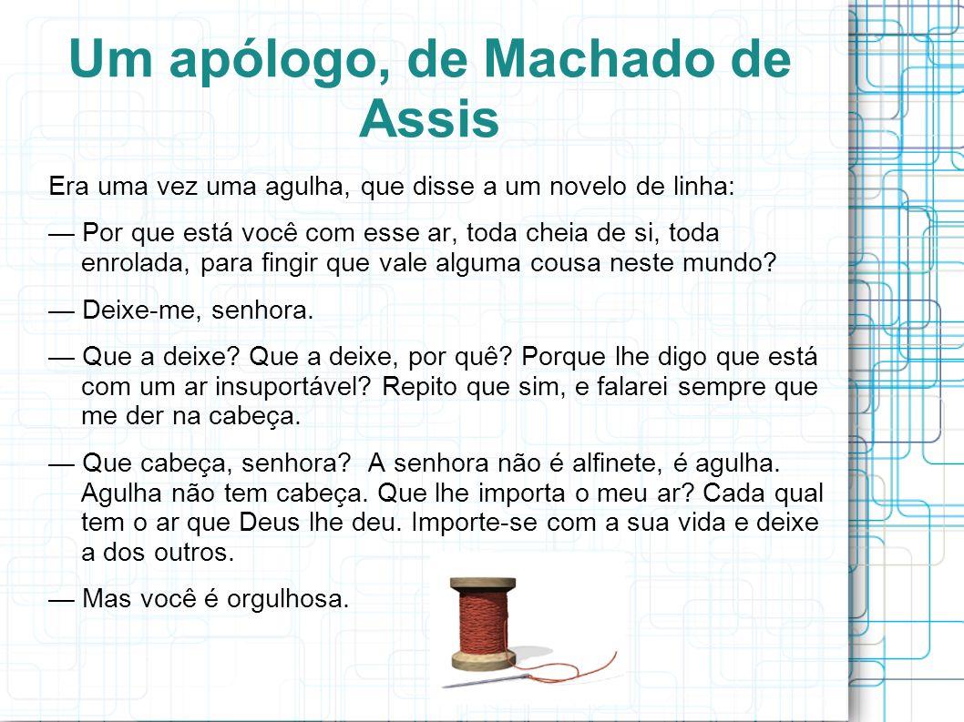 Um apólogo, de Machado de Assis