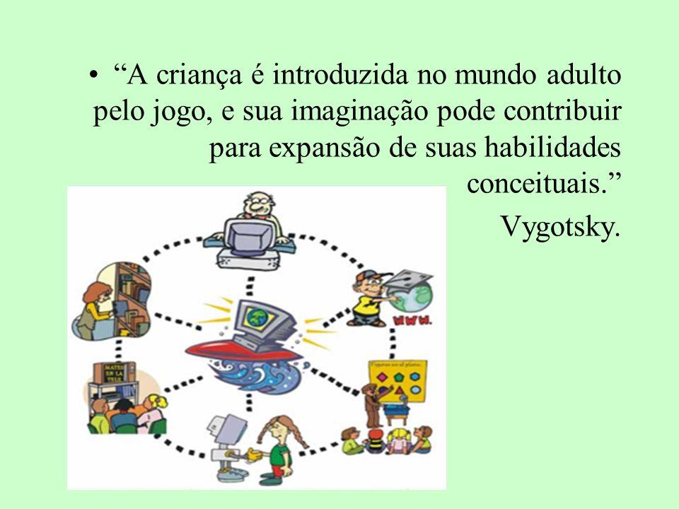 A criança é introduzida no mundo adulto pelo jogo, e sua imaginação pode contribuir para expansão de suas habilidades conceituais.