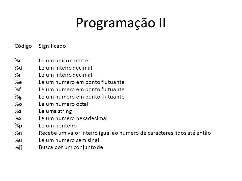 Programação II