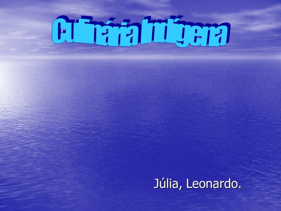 Culinária Indígena Júlia, Leonardo.