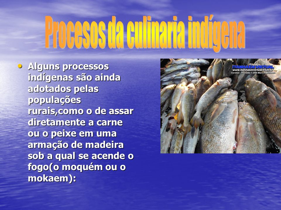 Procesos da culinaria indígena