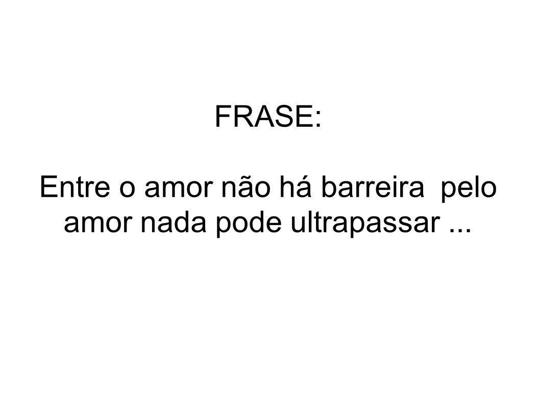 FRASE: Entre o amor não há barreira pelo amor nada pode ultrapassar ...