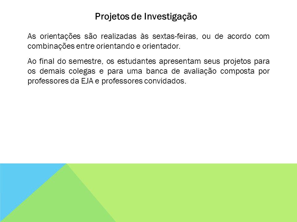 Projetos de Investigação