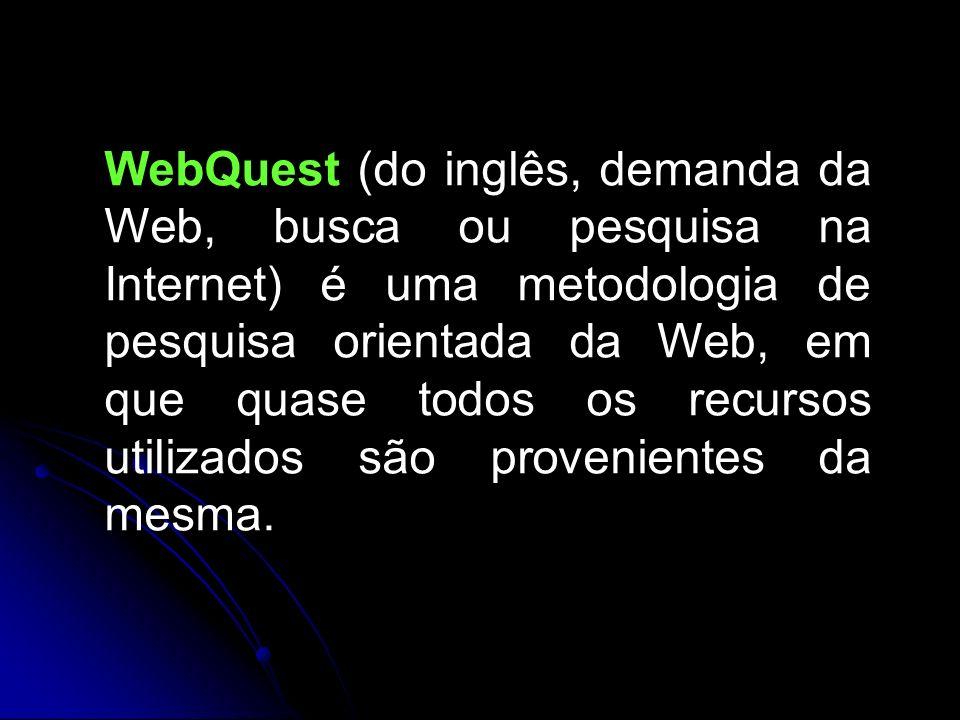 WebQuest (do inglês, demanda da Web, busca ou pesquisa na Internet) é uma metodologia de pesquisa orientada da Web, em que quase todos os recursos utilizados são provenientes da mesma.