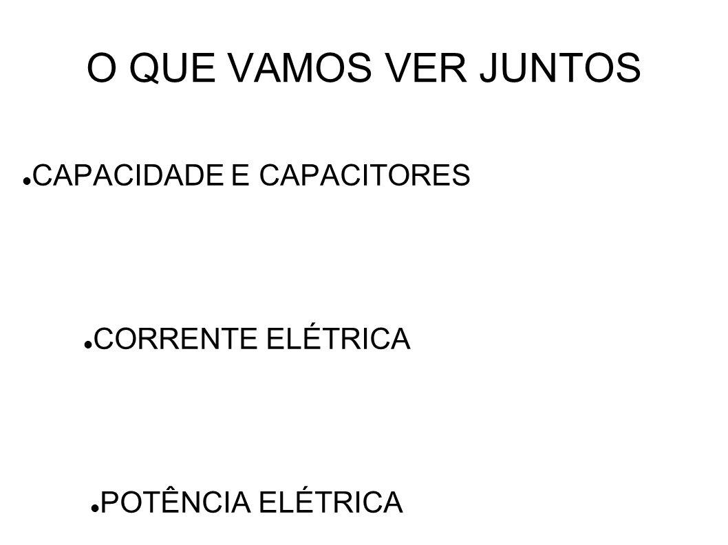CAPACIDADE E CAPACITORES CORRENTE ELÉTRICA POTÊNCIA ELÉTRICA