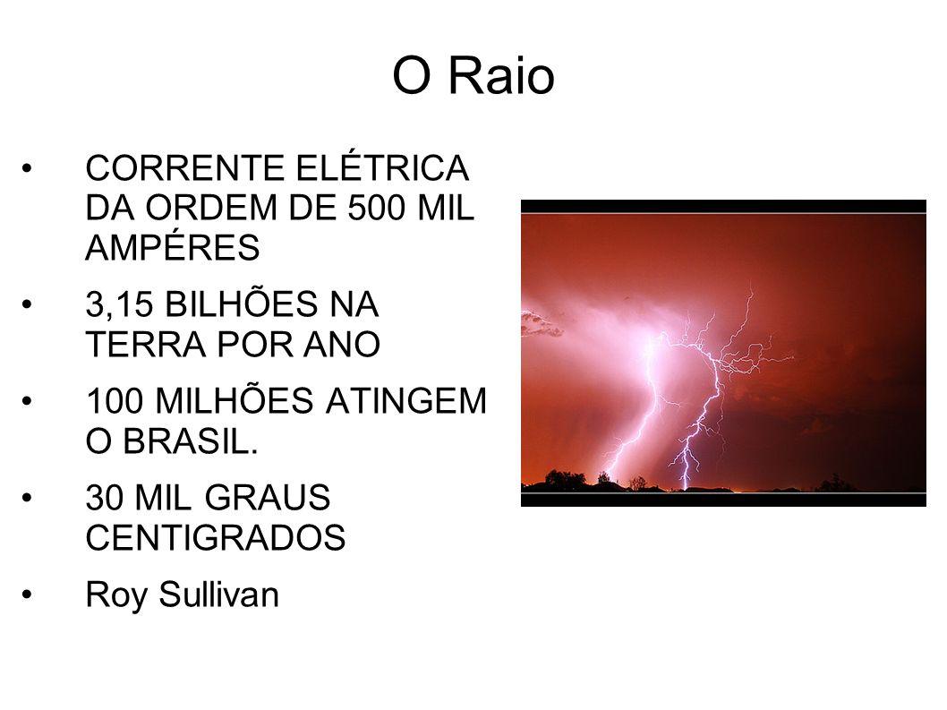 O Raio CORRENTE ELÉTRICA DA ORDEM DE 500 MIL AMPÉRES