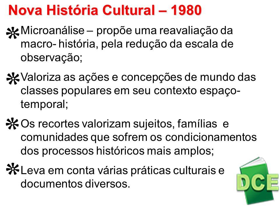 Nova História Cultural – 1980