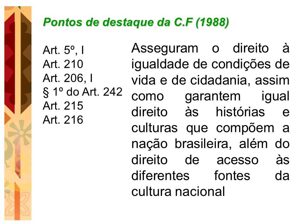 Pontos de destaque da C.F (1988)