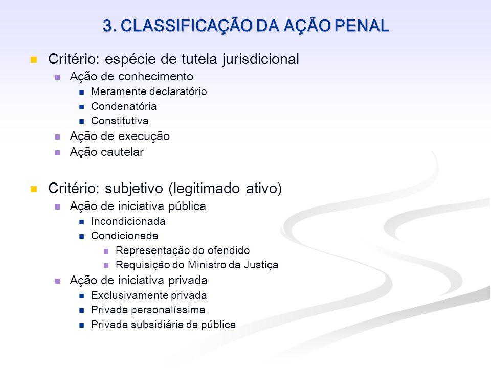 3. CLASSIFICAÇÃO DA AÇÃO PENAL