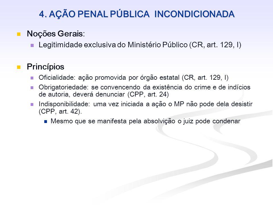 4. AÇÃO PENAL PÚBLICA INCONDICIONADA