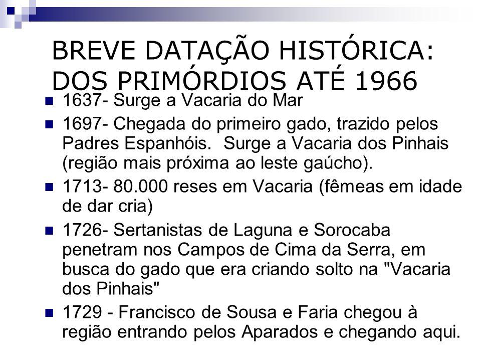 BREVE DATAÇÃO HISTÓRICA: DOS PRIMÓRDIOS ATÉ 1966