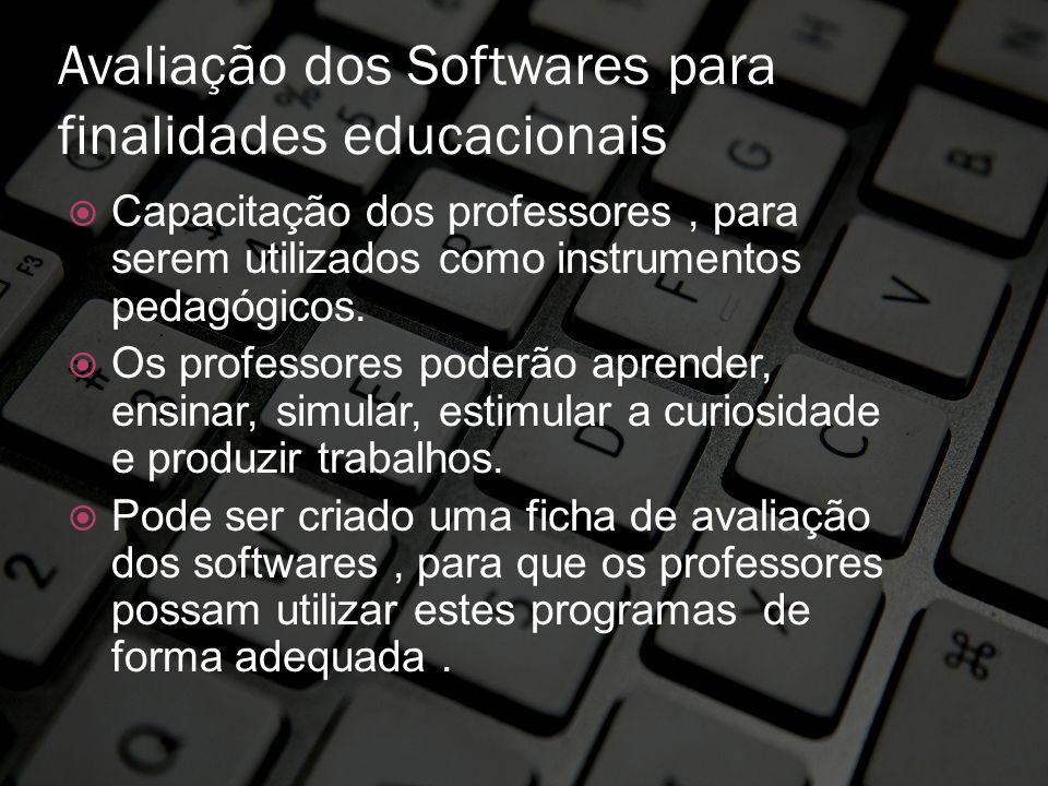 Avaliação dos Softwares para finalidades educacionais