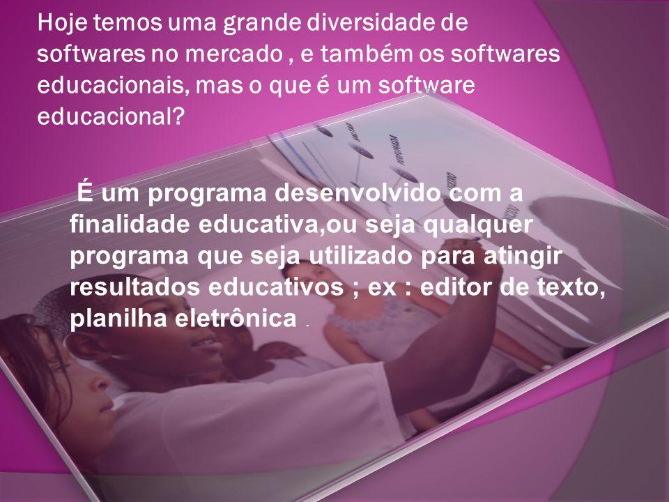 Hoje temos uma grande diversidade de softwares no mercado , e também os softwares educacionais, mas o que é um software educacional