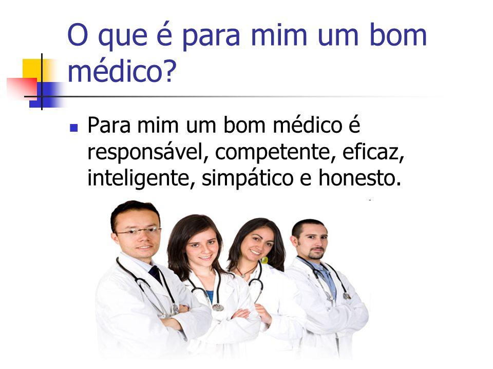 O que é para mim um bom médico