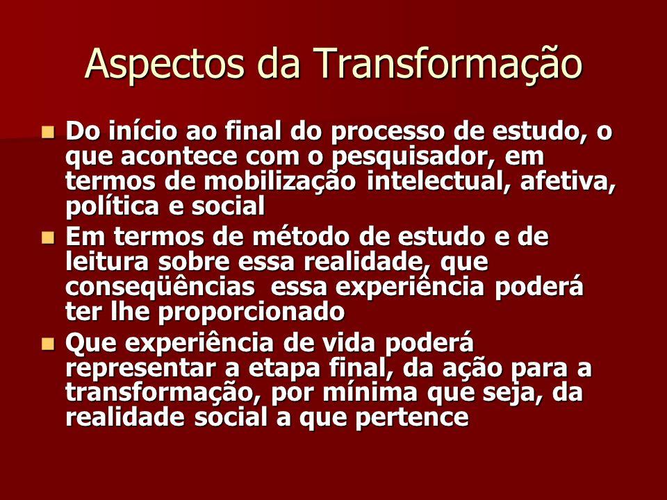 Aspectos da Transformação