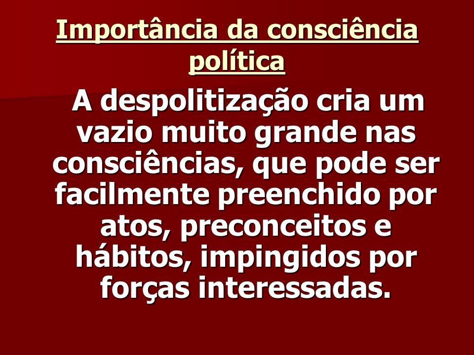 Importância da consciência política