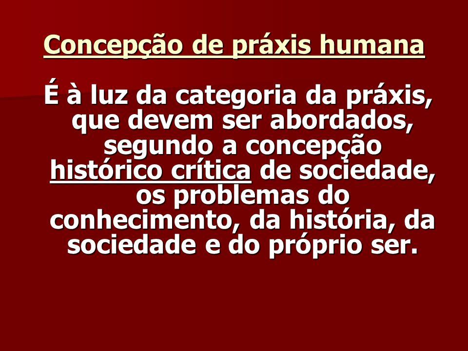 Concepção de práxis humana
