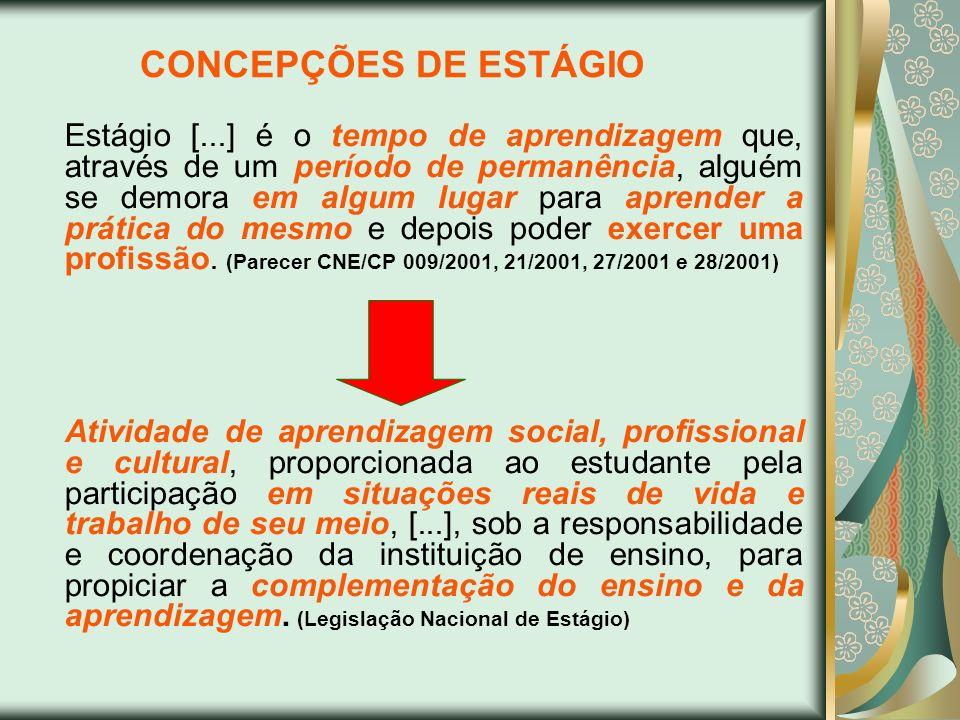 CONCEPÇÕES DE ESTÁGIO